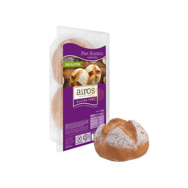 Pan redondo rustico sin gluten listo para comer 200 gramos airos