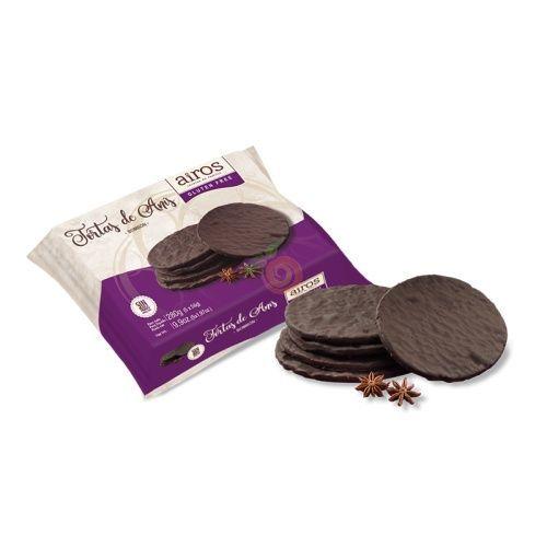Tortas de anís bañadas con chocolate sin gluten 280 gramos airos