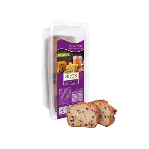 Plum cake con choco chips sin gluten 300 gramos airos