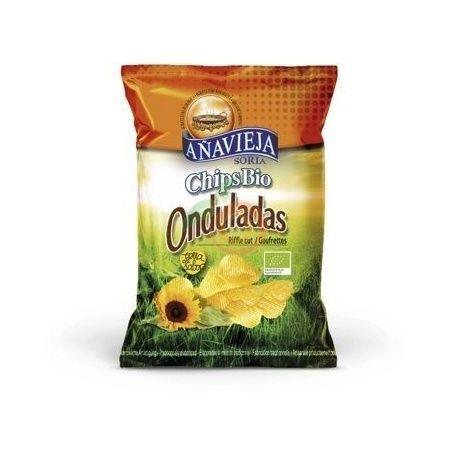 Patatas fritas onduladas aceite girasol eco 125 gramos añavieja