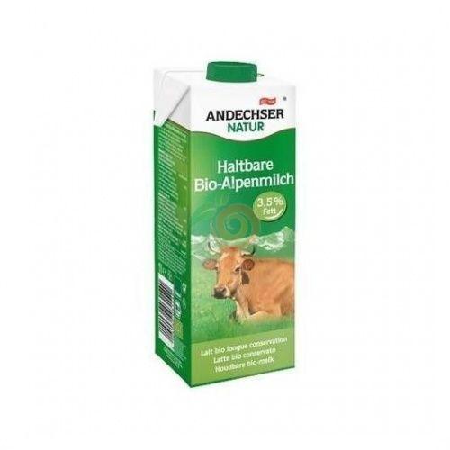 Bebida de entera de vaca uht 1 litro  andechser natur