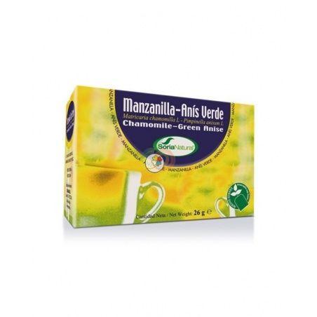 Manzanilla infusión anís 20 unidades soria natural
