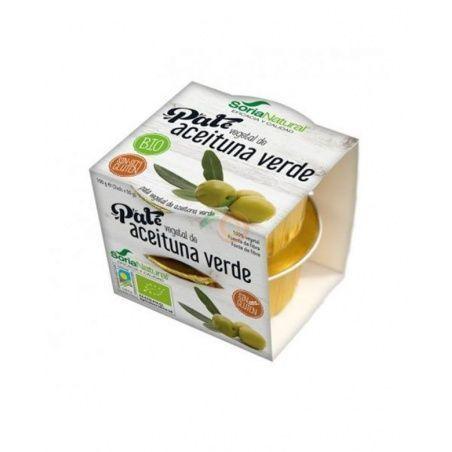 Paté vegetal de aceituna verde bio sin gluten 2 x 50 gramos