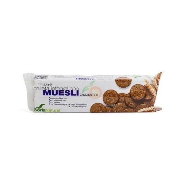 Galletas integrales con muesli 165 gramos soria natural