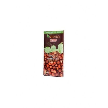 Chocolate negro con avellanas con stevia torras