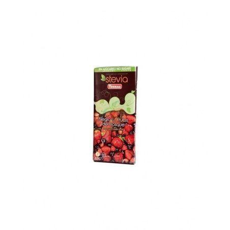 Chocolate negro con frutas del bosque con stevia torras