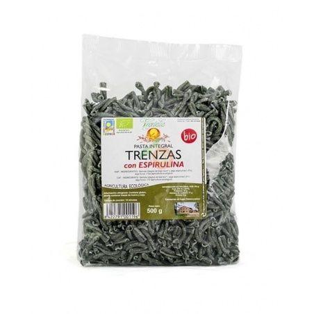 Trenzas integrales de trigo con espirulina bio 500 gramos vegetalia