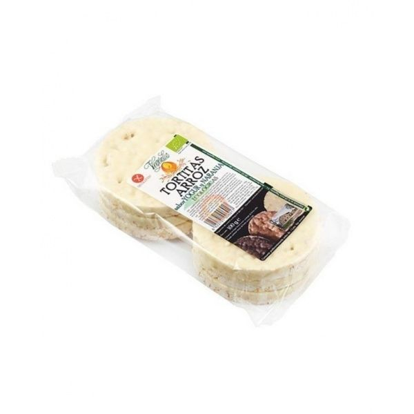 Tortitas de arroz con yogur y naranja bio 100 gramos vegetalia