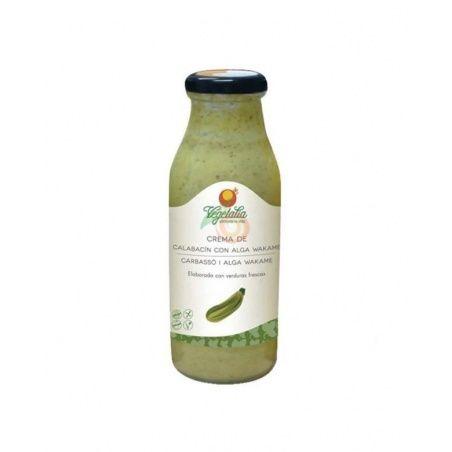 Crema calabacin y alga wakame bio sin gluten vegano 500 ml vegetalia