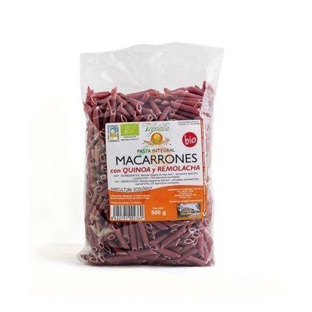 Macarrones con quinoa y remolacha bio 500 gramos vegetalia