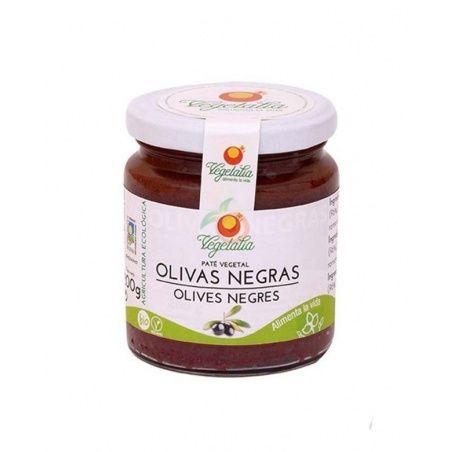 Paté vegetal olivas negras bio 100 gramos vegetalia