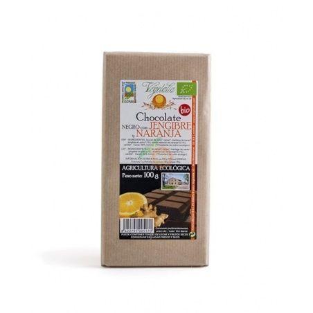 Chocolate negro con jengibre y naranja bio 100 gramos vegetalia