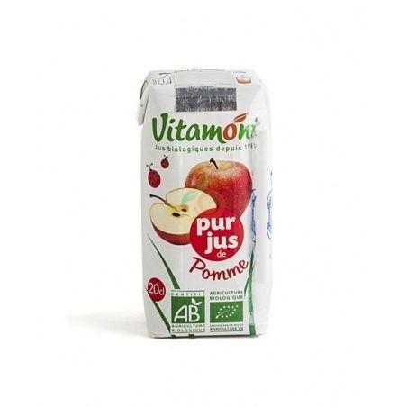 Zumo de manzana sin azucar bio 6 x 200 ml  vitamont