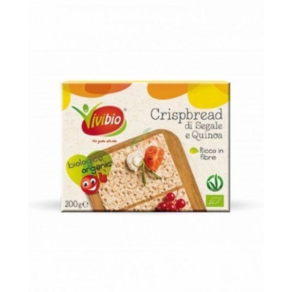 Pan crujiente de centeno integral y quinoa bio 200 gramos vivibio