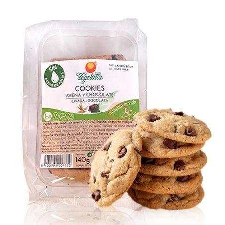 Cookies de avena y chocolate bio 140 gramos vegetalia