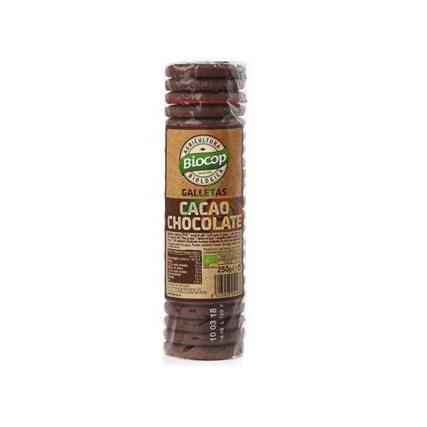 Galletas cacao con chips de chocolate bio 250 gramos biocop