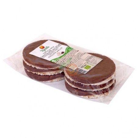 Tortitas de maiz con chocolate con leche bio 95 gramos vegetalia