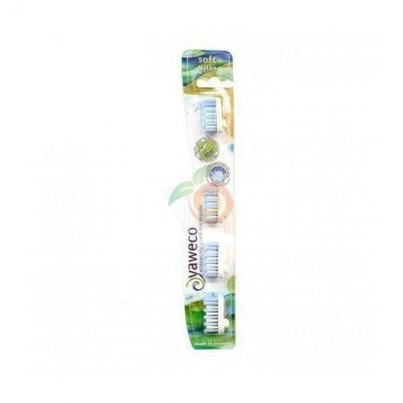 Recambio para cepillo dental nylon suave yaweco