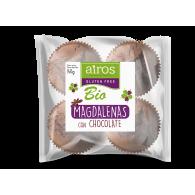 Magdalenas de chocolate sin gluten bio 140 gramos airos