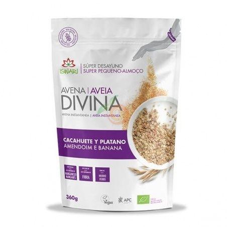 Avena divina cacahuete y plátano 360 gramos bio iswari
