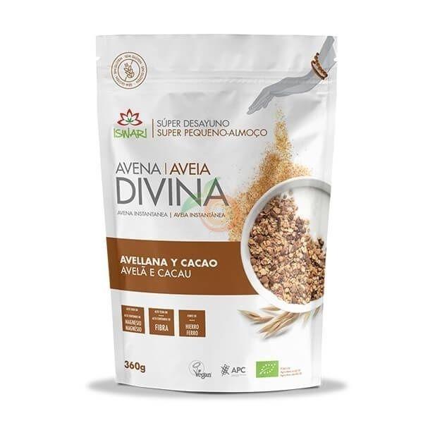 Avena divina avellana y cacao bio 360 gramos iswari
