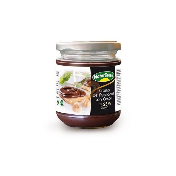 Crema de avellanas con cacao bio 200 gramos naturgreen