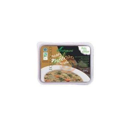 Arroz meloso con verduras 300 gramos soria natural