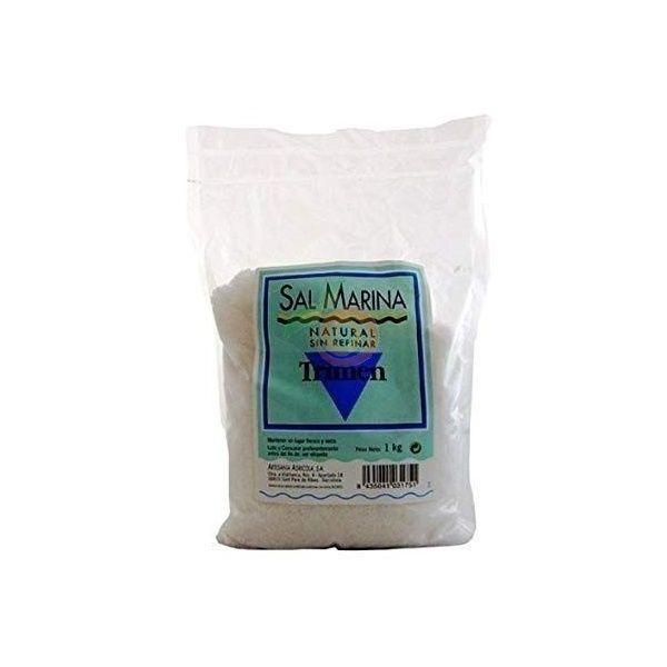 Sal marina sin refinar 1 kg artesanía agrícola