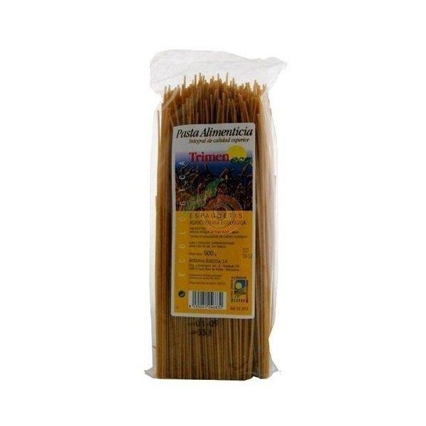 Espaguetti integral de trigo 500 gramos artesanía agrícola