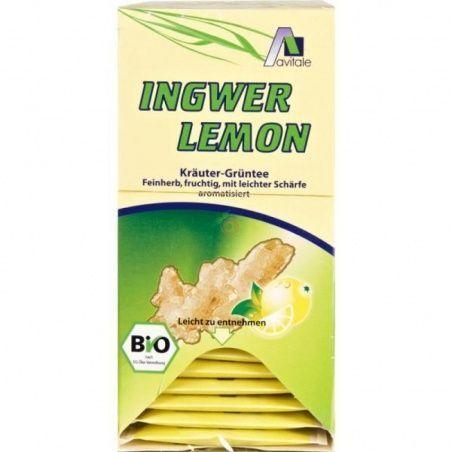 Té verde jengibre-limón 20 sobres avitale