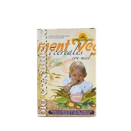Papilla 7 cereales con miel 400 gramos biocrecimiento