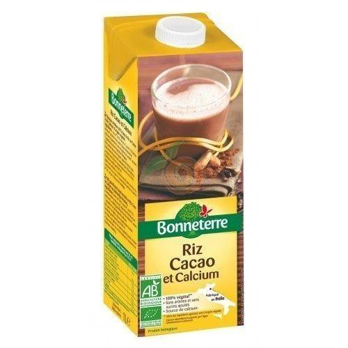 Bebida de arroz y cacao con calcio bio 1 litro bonneterre