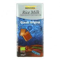 Chocolate con leche de arroz bio 100 gramos bonvita