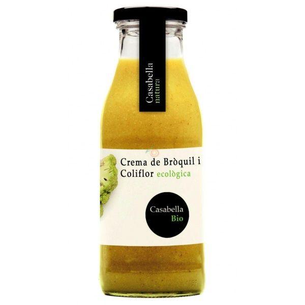 Crema de brócoli y coliflor ecológica 500 ml casabella