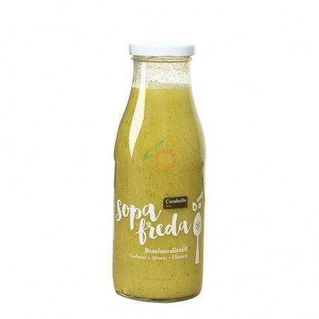 Sopa fría de calabacin aguacate y limón eco 500 ml casabella