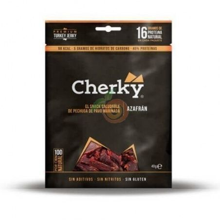 Snack de pavo marinado azafrán 40 gramos cherky