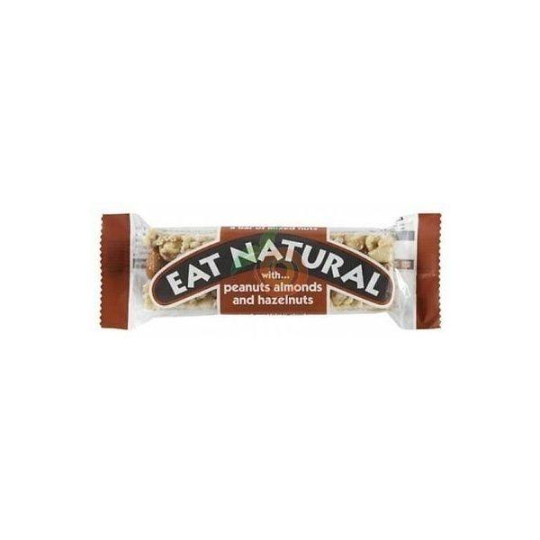 Barrita de cacahuetes almendras y avellanas eat natural