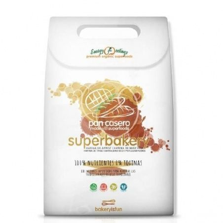 Superbakery pan casero 583 gramos energy fruits