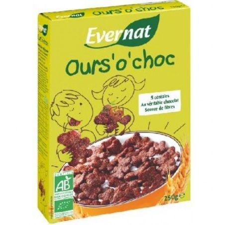 Cereales ositos choco 250 gramos evernat kids