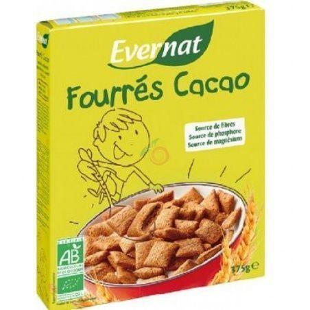 Cereales rellenos cacao 375 gramos evernat kids