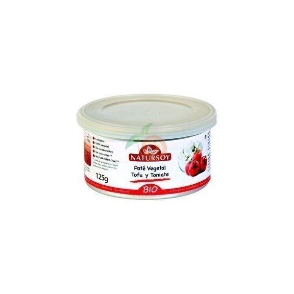 Pate vegetal tofu y tomate bio 125 gramos natursoy