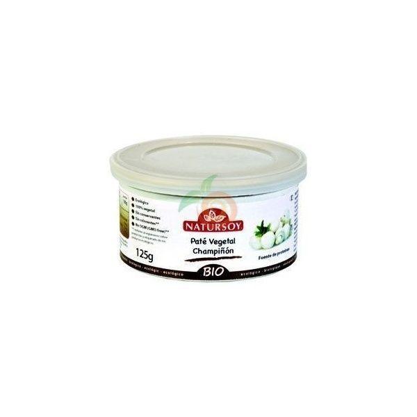 Pate vegetal champiñon bio 125 gramos natursoy