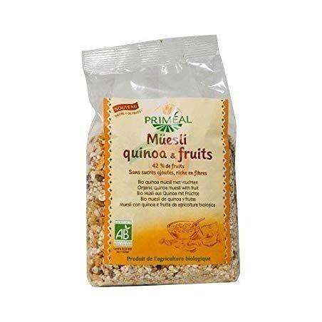 Muesli quinoa frutas 375 gramos fertilia