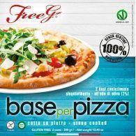 Base de pizza sin gluten 2 unidades freeg