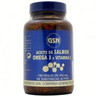 Aceite de salmón con omega 3 y vitamina e 502 mg 180 perlas gsn