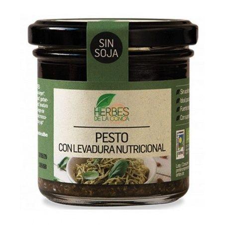 Salsa pesto con levadura nutricional 150 gramos herbes de la conca