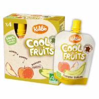 Cool fruits plátano y manzana 4 unidades kalibio