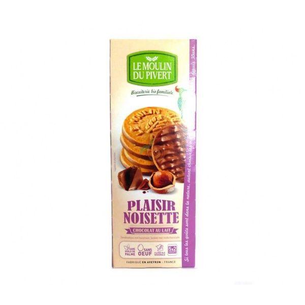 Galletas placer de chocolate con leche y avellanas 130 gramos le moulin du pivert