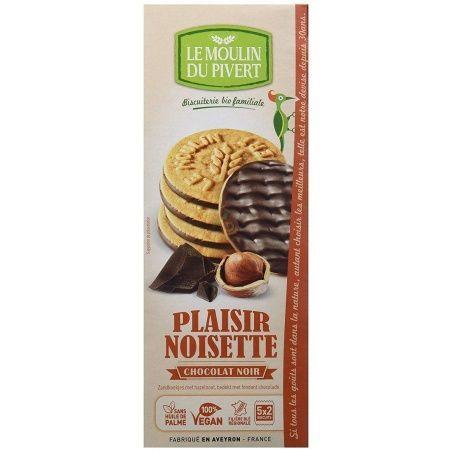 Galletas placer de chocolate negro y avellanas 130 gramos le moulin du pivert
