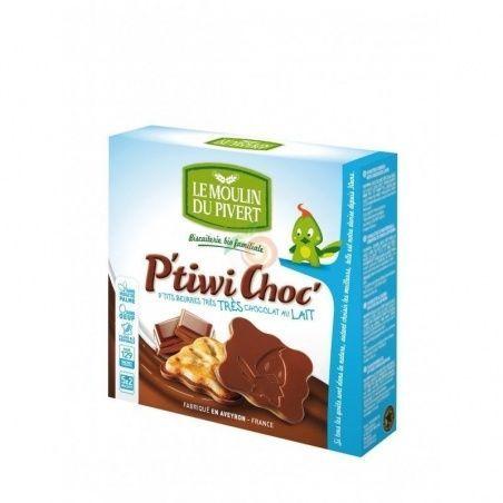 Mini galletas de chocolate con leche 125 gramos le moulin du pivert
